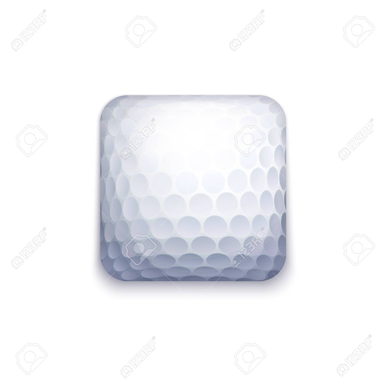 Vector Golf Ball Icon For Applications, Ui, GUI and Game Interfaces - 79634511