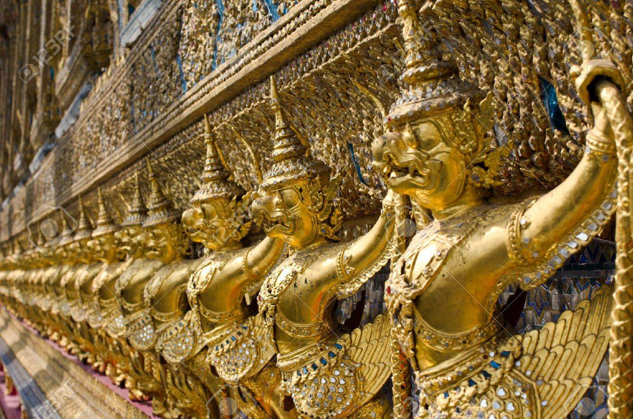 Garuda in Wat Phra Kaew Grand Palace of Thailand to find. Stock Photo - 11782795