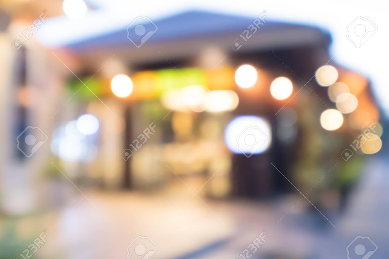 Resumen Imagen Borrosa Restaurante Y Cafetería Con Bokeh Para El ...