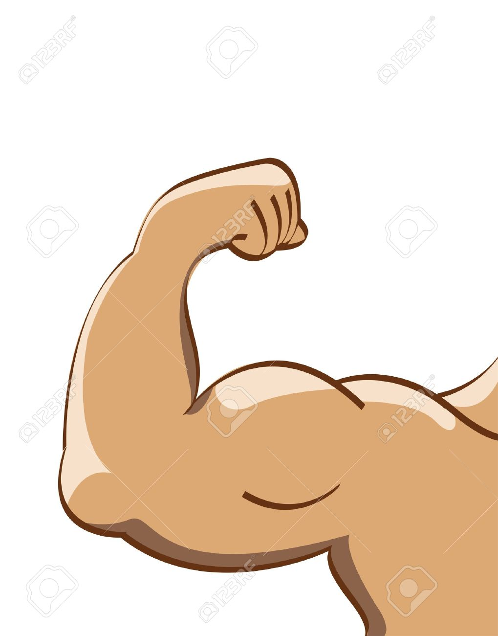 Vector Illustration Of Muscle Man Stock Photo, Picture And Royalty ...