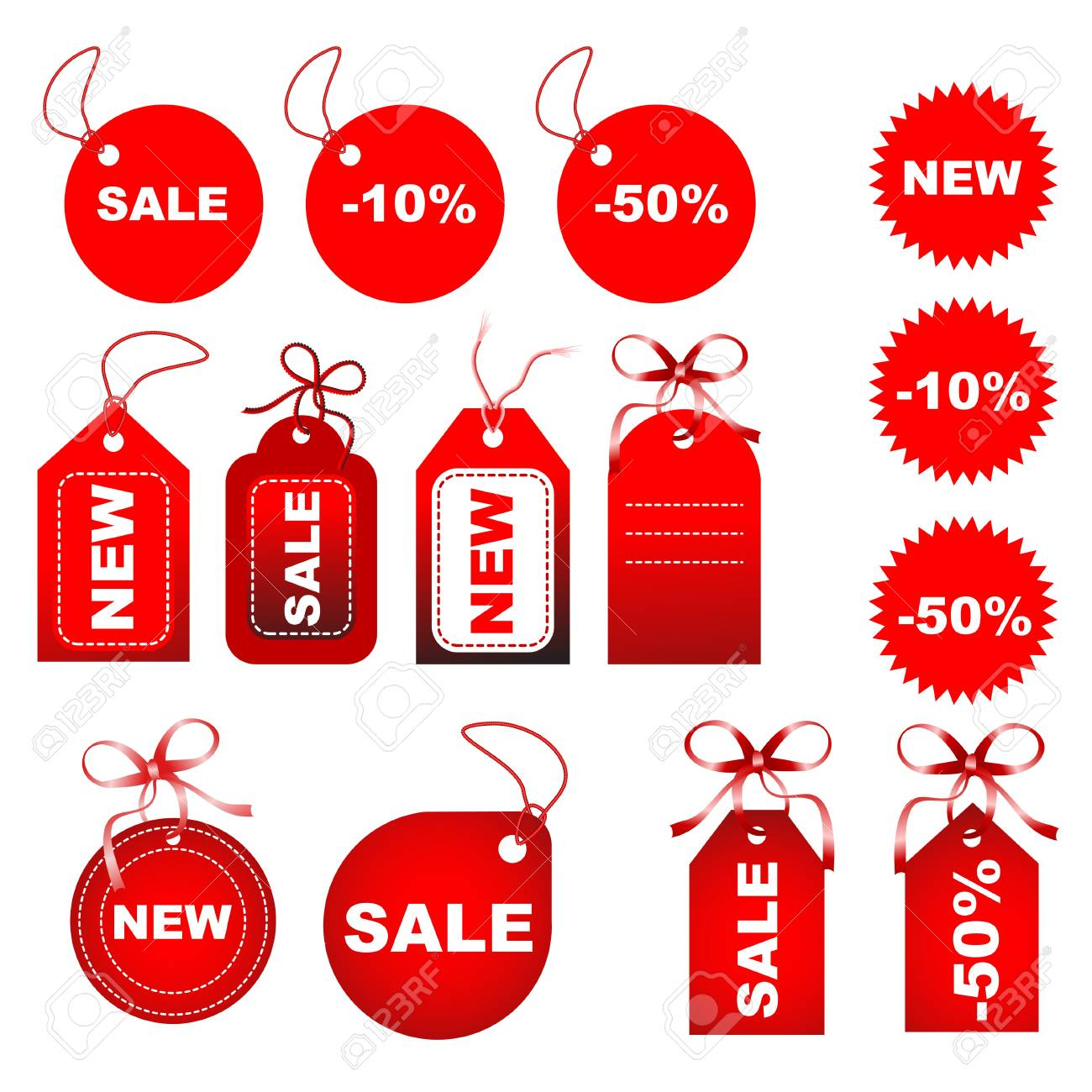 set of tags fully editable vector illustration Stock Illustration - 4394589