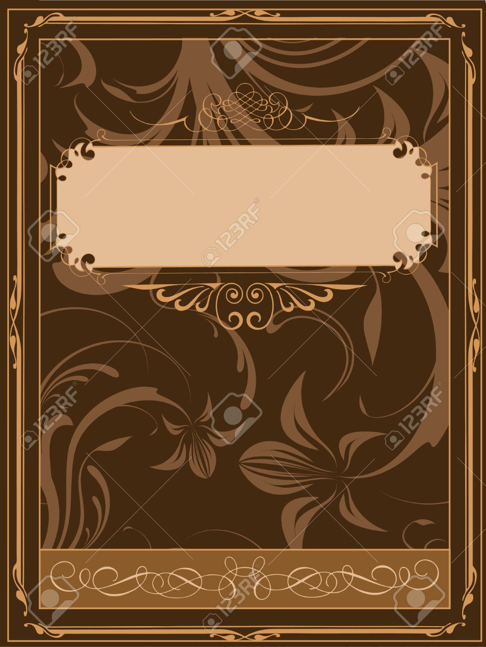 Old Book Cover Vector Illustration Stock Photo, Picture And ...