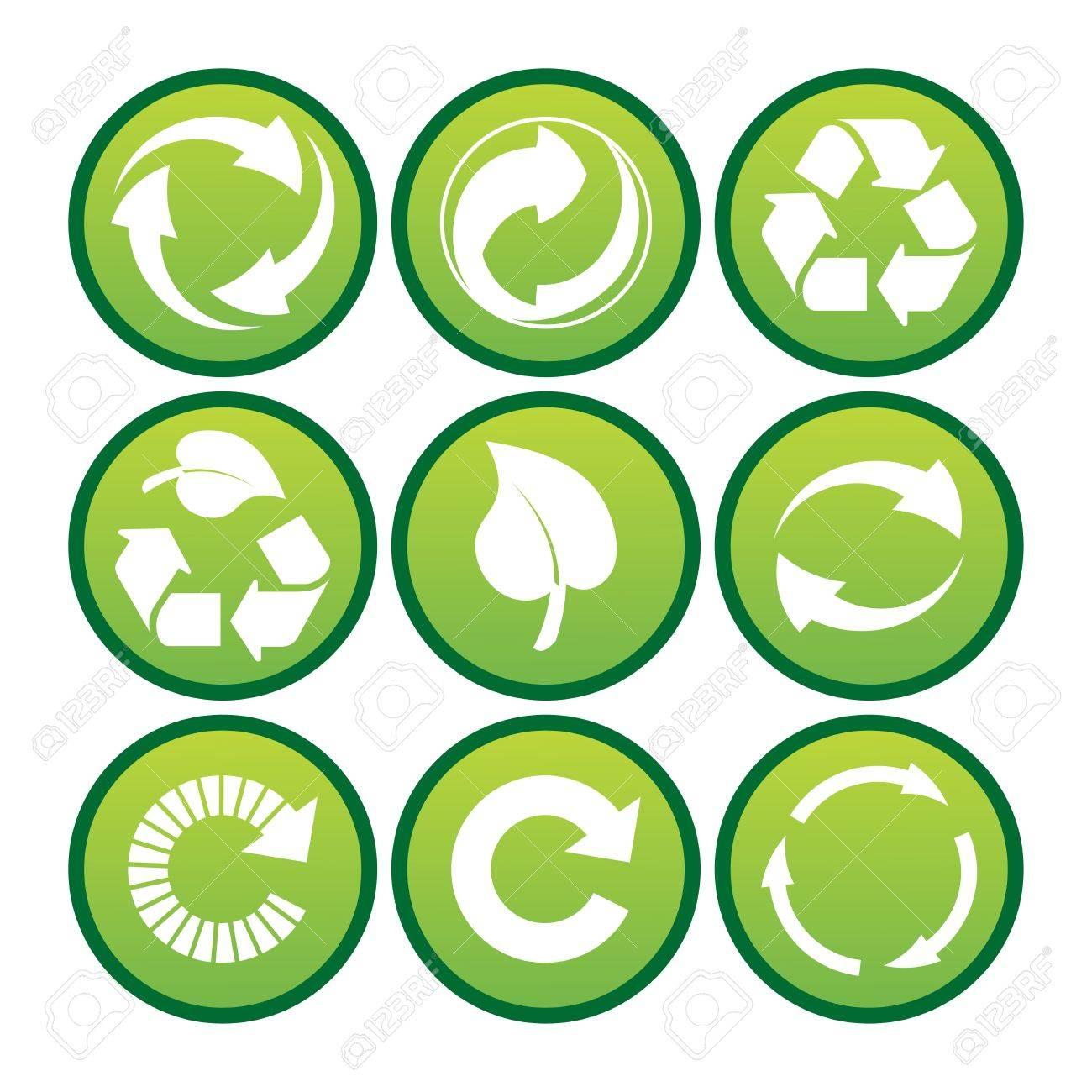 Vector set of environmental / recycling icons Stock Photo - 4394632