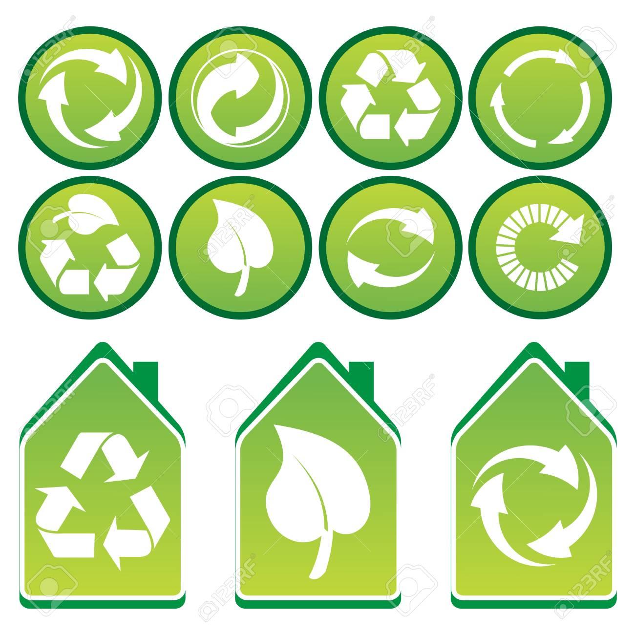 Vector set of environmental / recycling icons Stock Photo - 4394674