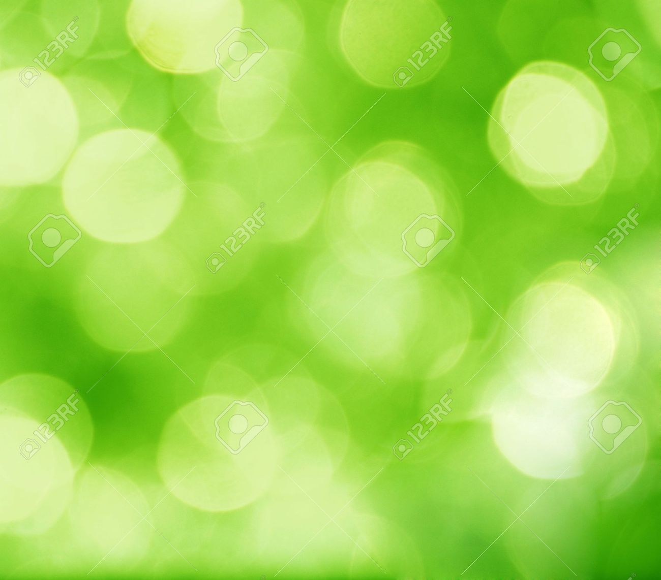 abstract green background with blurred circles Stock Photo - 6241892