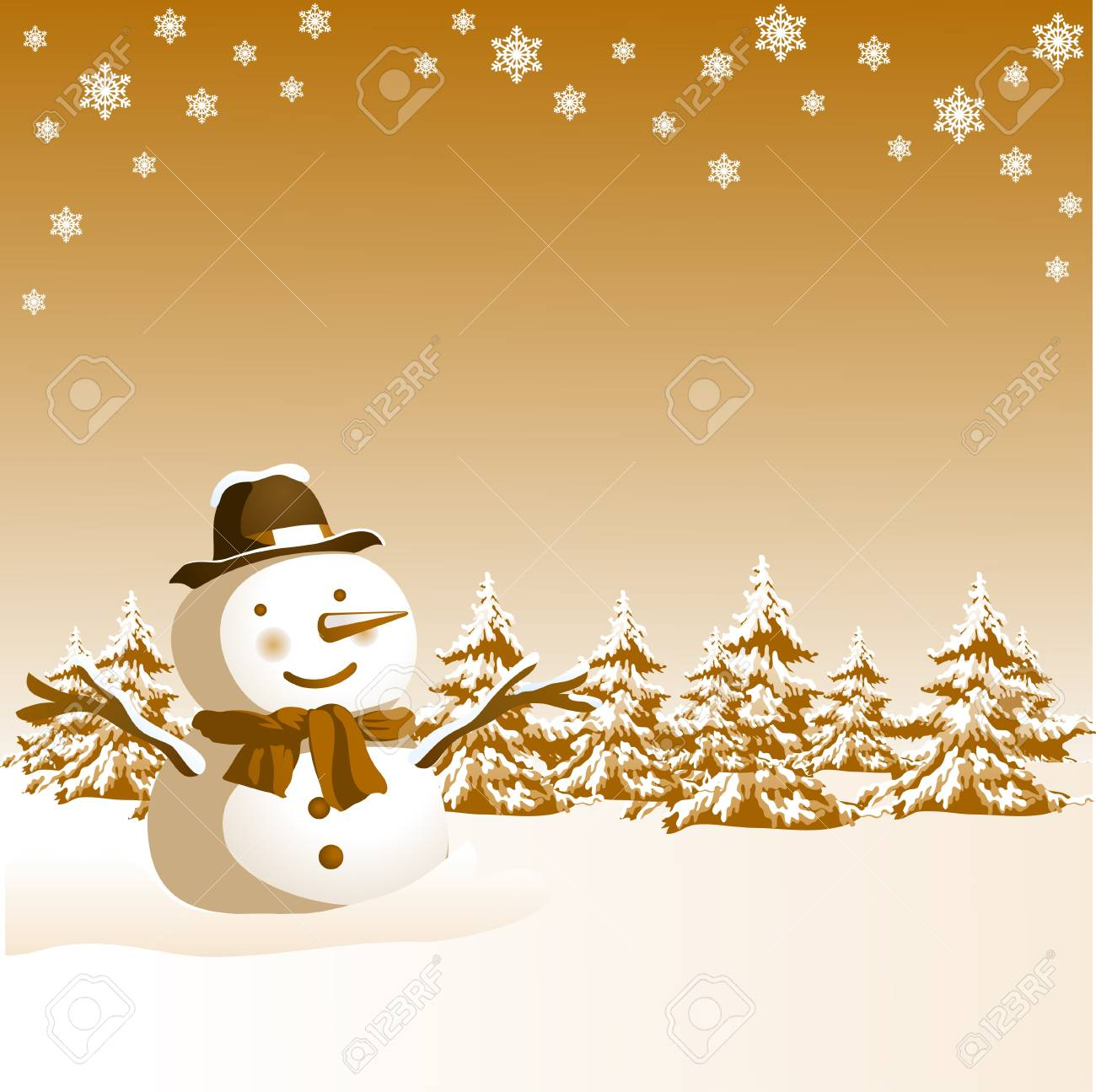 Christmas design with snowman Stock Vector - 7884177
