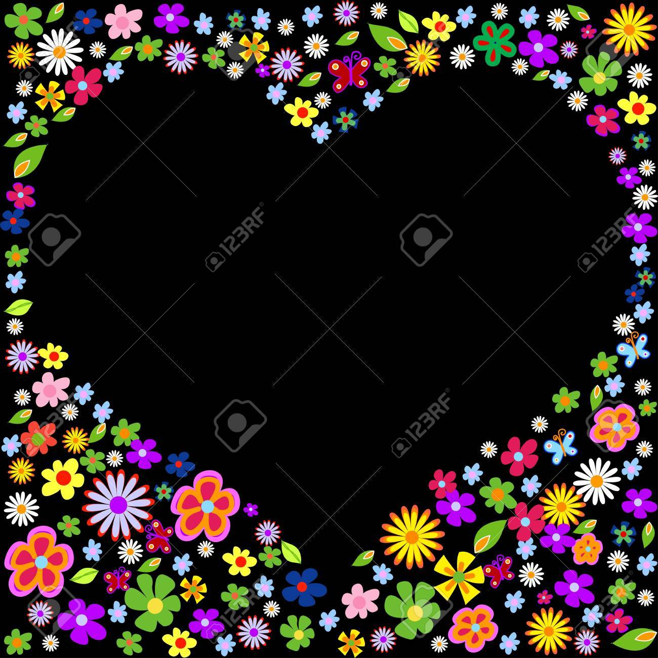 spring flower valentine illustration Stock Vector - 7884215
