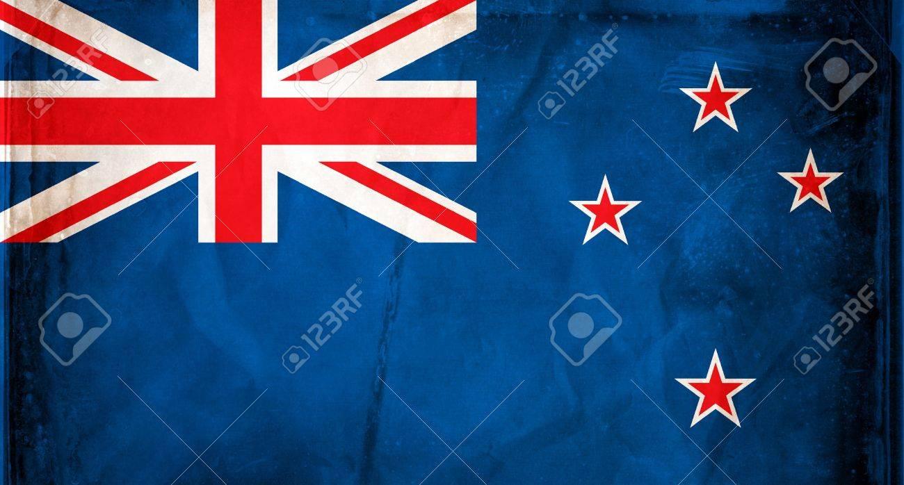 Grunge flag series -  New Zealand Stock Photo - 7977582