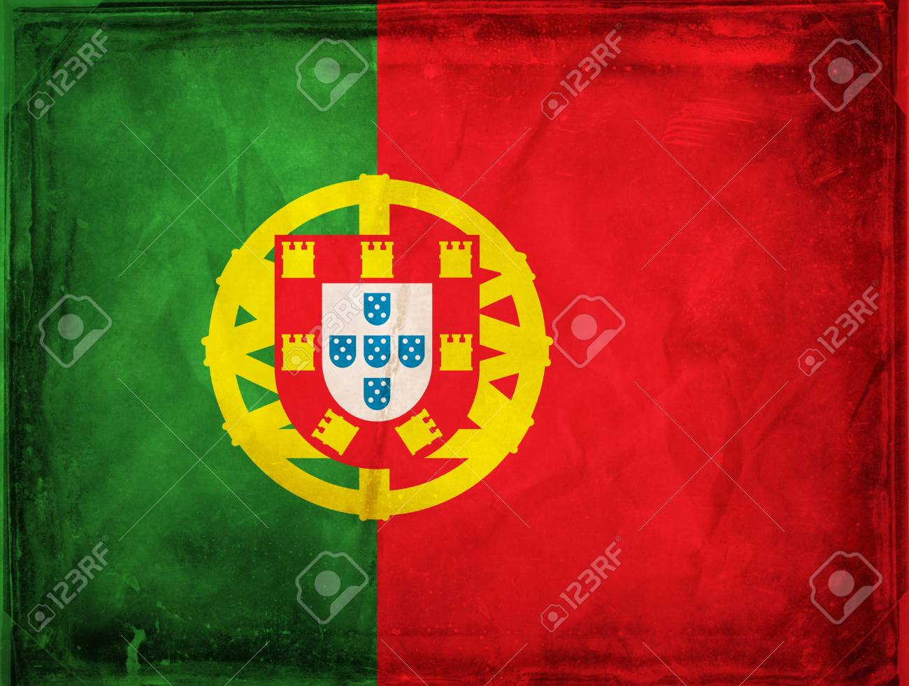 Grunge flag series -  Portugal Stock Photo - 7977790