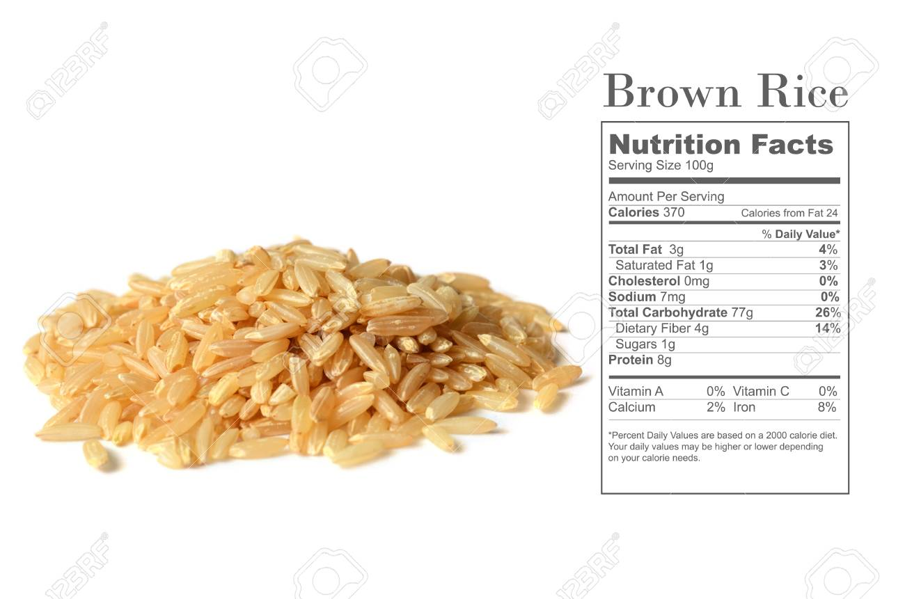 How many carbs in 100g uncooked brown rice