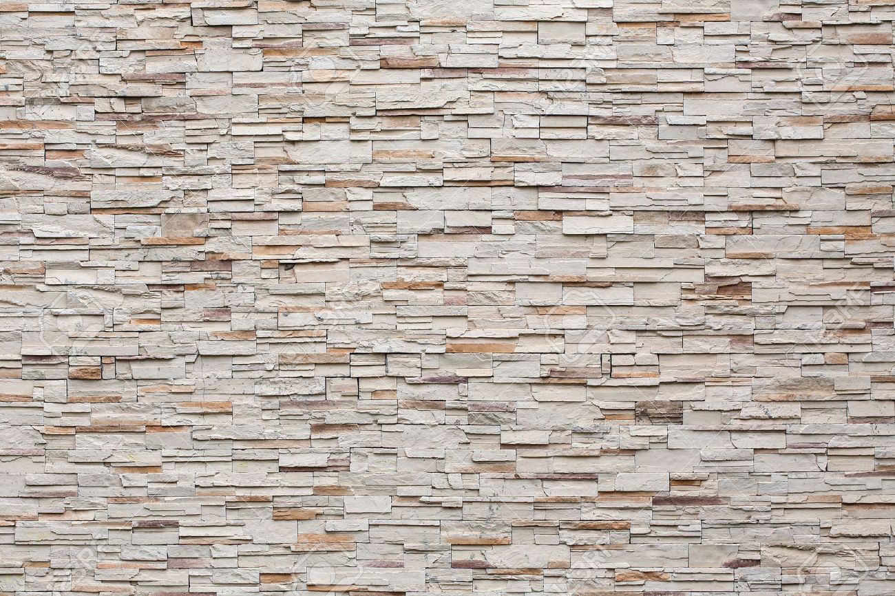 Pattern Of Decorative Stone Wall Background Stock Photo   35694753