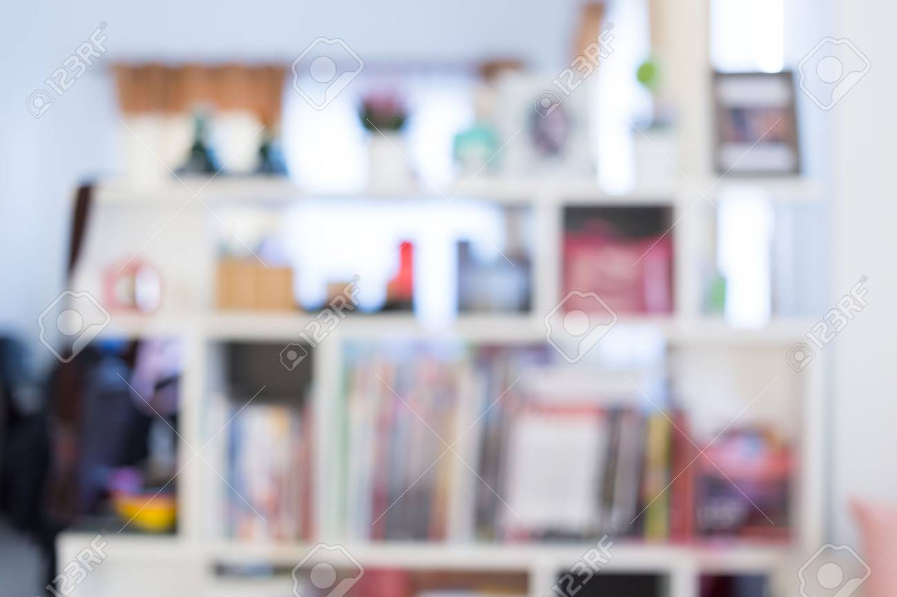 Blur Image Background Book Shelf Interior Decoration In Home Stock Photo Picture And Royalty Free Image Image 44668193