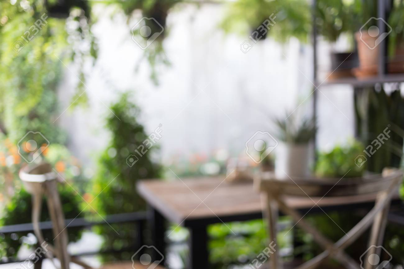 Banque Du0027images   Image Floue Résumé, Décoration Salon Style Intérieur Vert  éco Environnement Avec Arbre Nad Plante