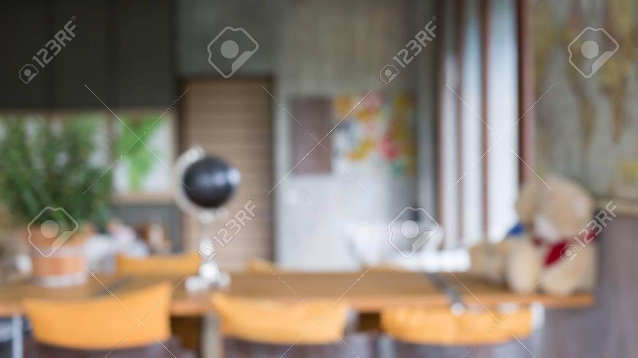 Bildunschärfe Hintergrund, Wohnzimmer Innendekoration Kaffee Mit Bar ...