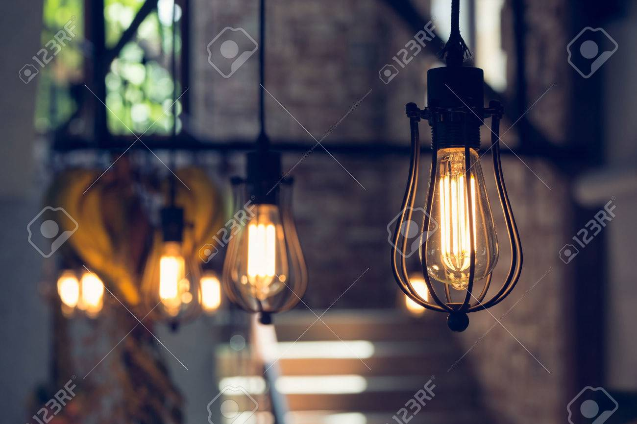 light lamp electricity hanging decorate home interior in christmas day - 50780978