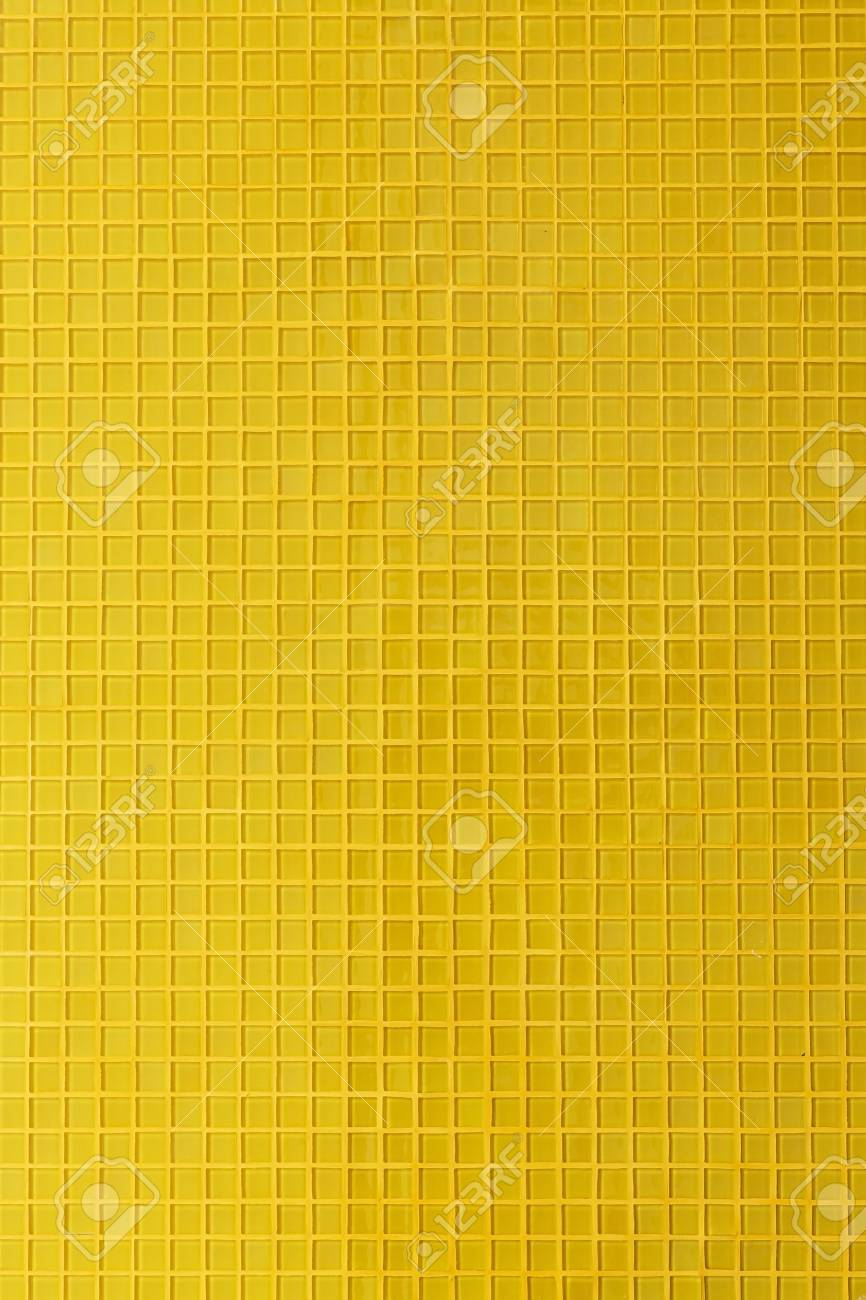 Yellow Mosaic Tile Decoration Wall Room Background Stock Photo ...