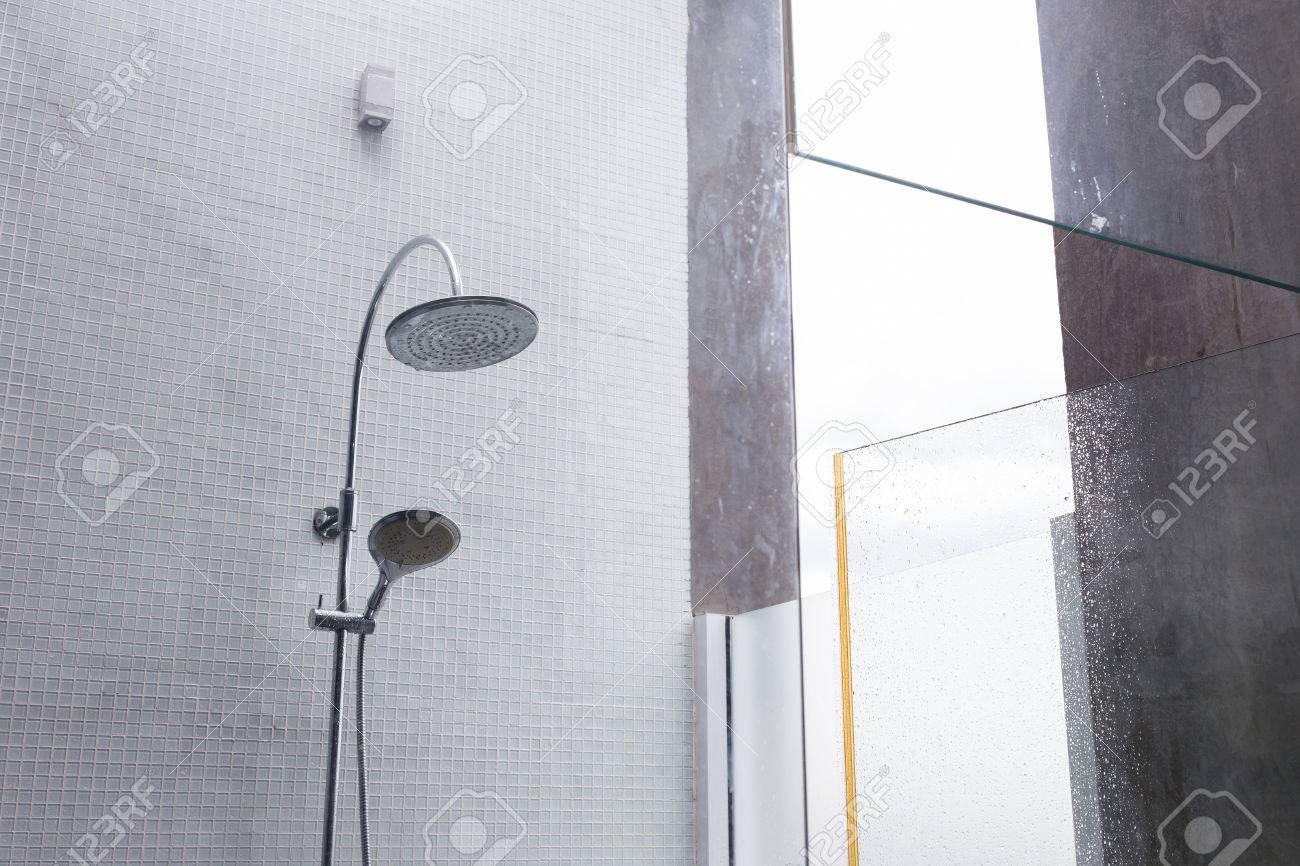 Shower Head In Bathroom, Design Of Home Interior Outdoor Bathroom ...