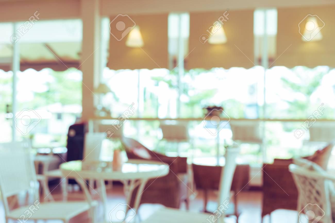 Desenfoque De Café De Fondo, Cafetería De Decoración De Interiores ...