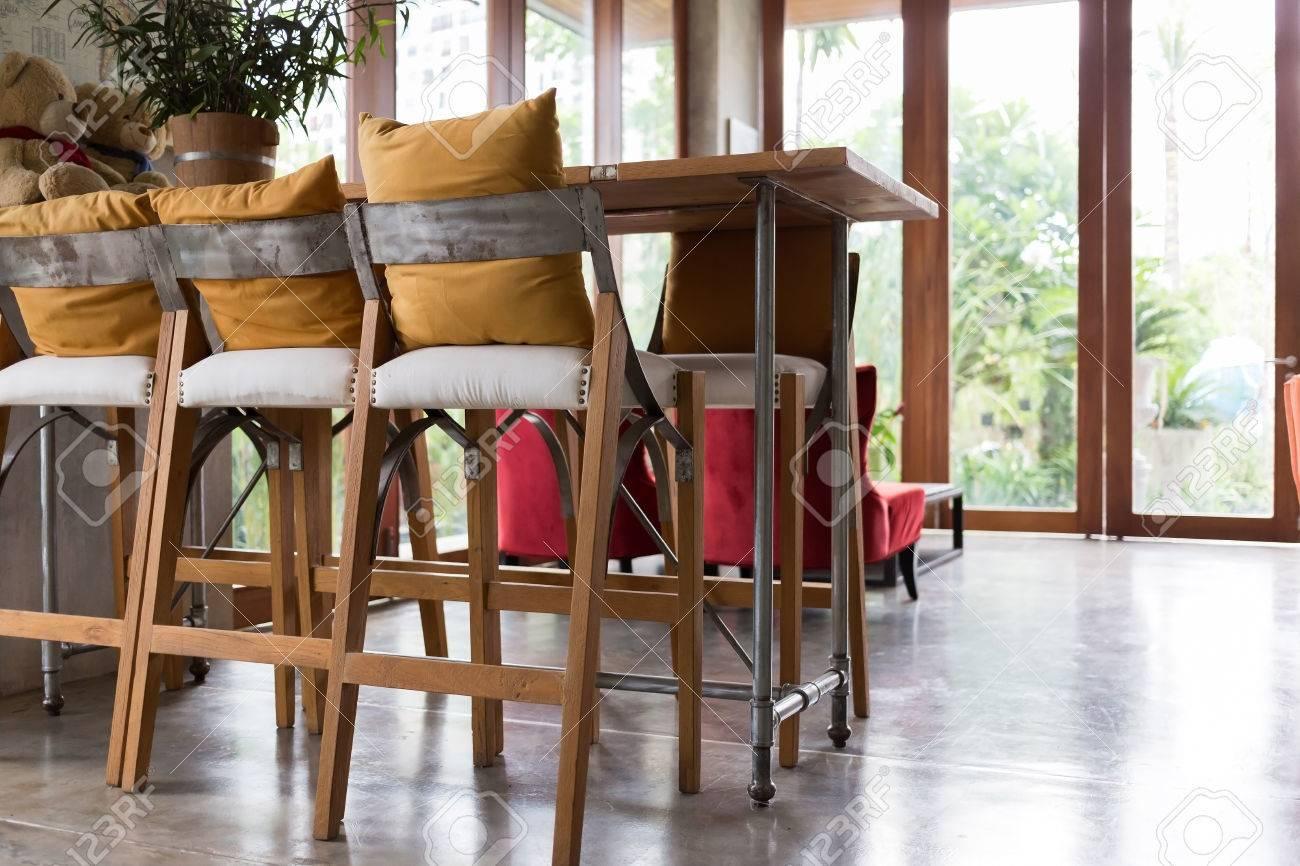 Immagini stock soggiorno decorazione dinterni bar caffè con barra