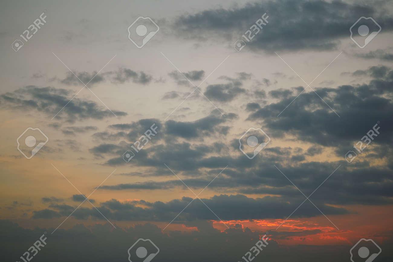 dark cloud above dusk sky - 121630049