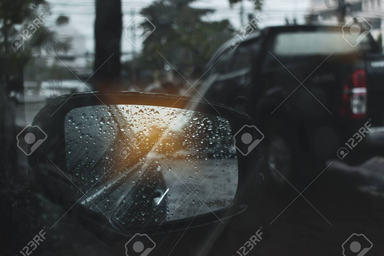 Car Driving On Road With Storm Of Rainy Day Stock Photo Picture And Royalty Free Image Image 121638767