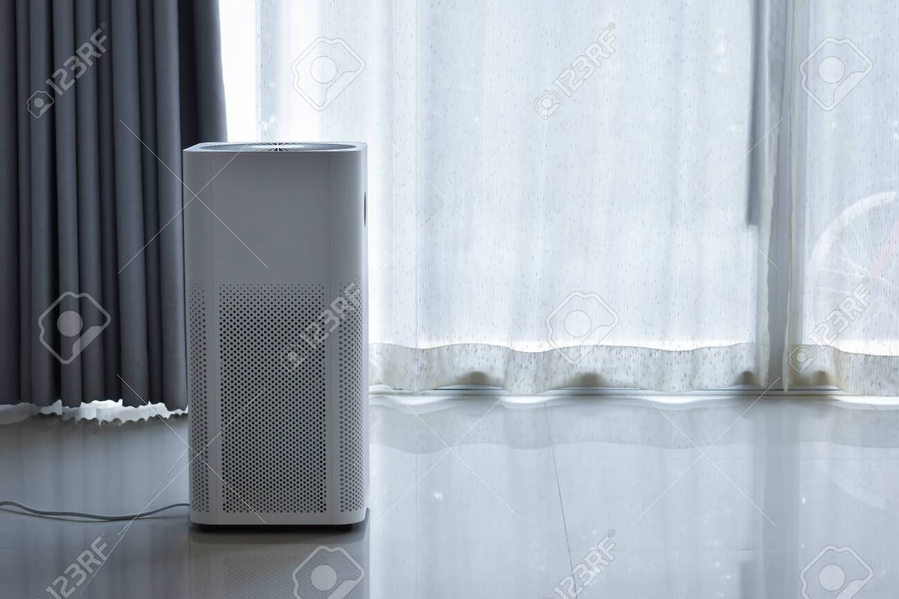 Air Purifier System Cleaning Dust Pm 2 5 Pollution In Bedroom Stock Photo Picture And Royalty Free Image Image 138272413