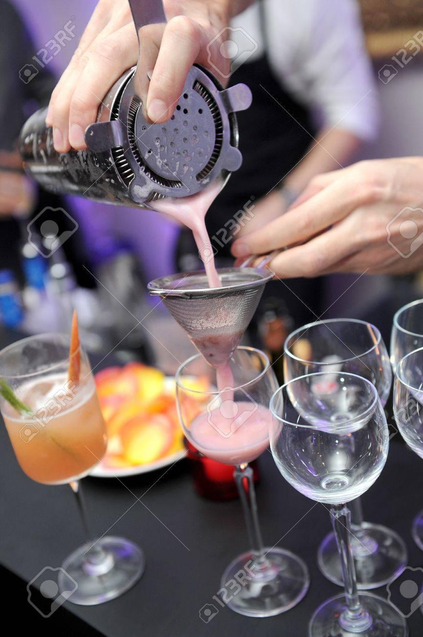 mixing drinks Stock Photo - 15877789