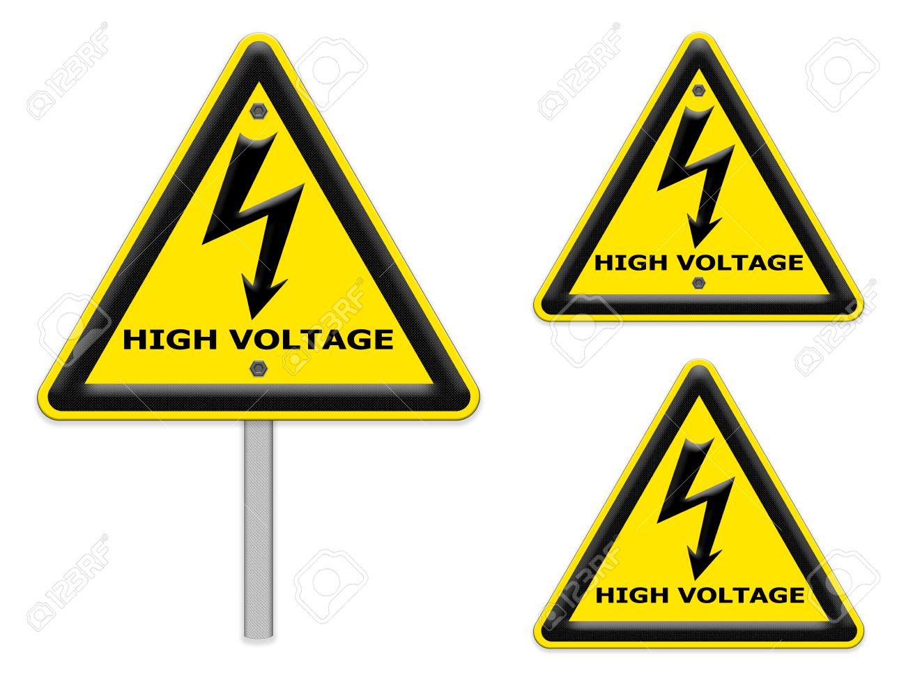 The Signs Of Danger Of Electricity From High Voltage Isolated ...