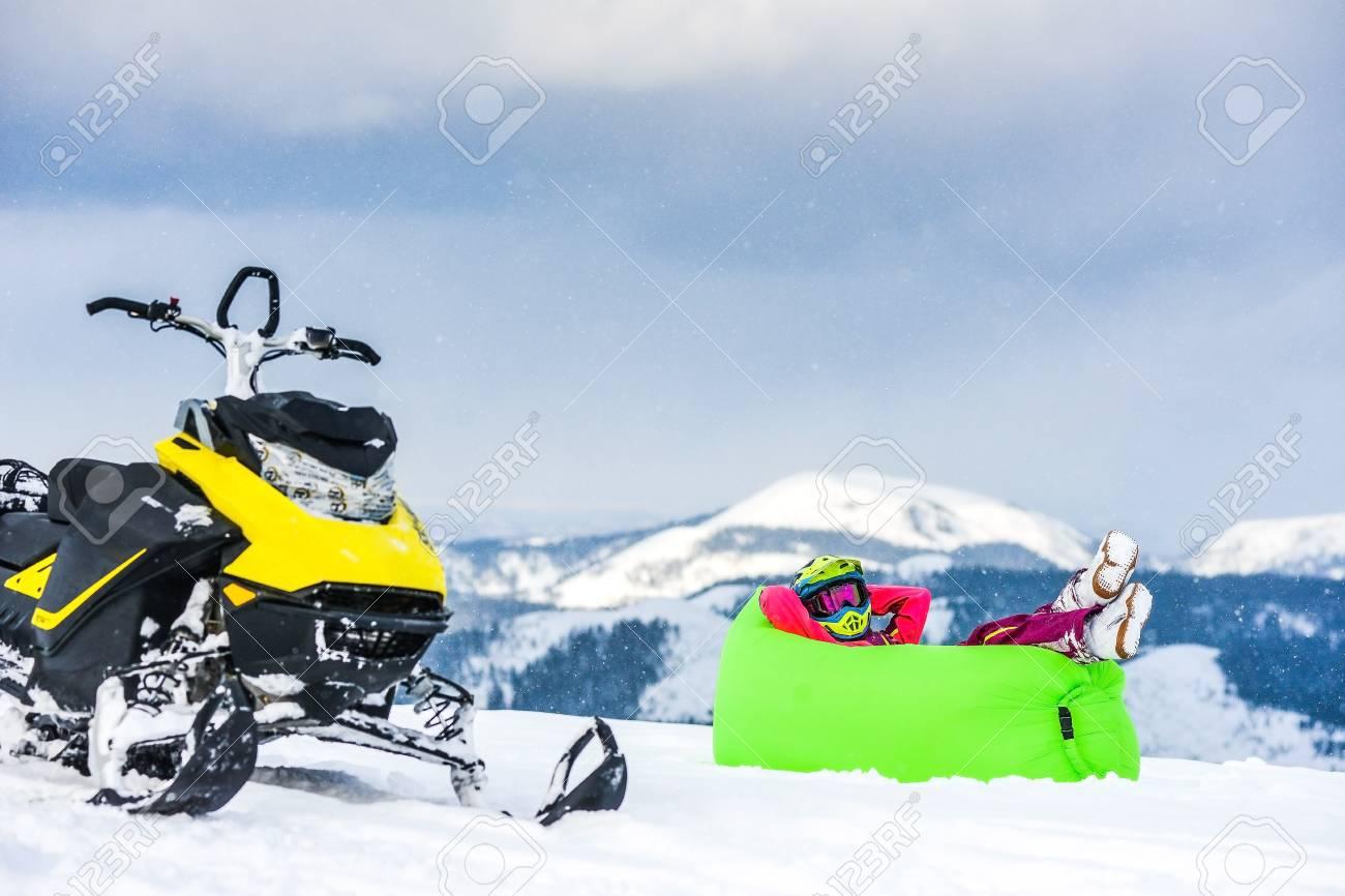 traine de motoneige