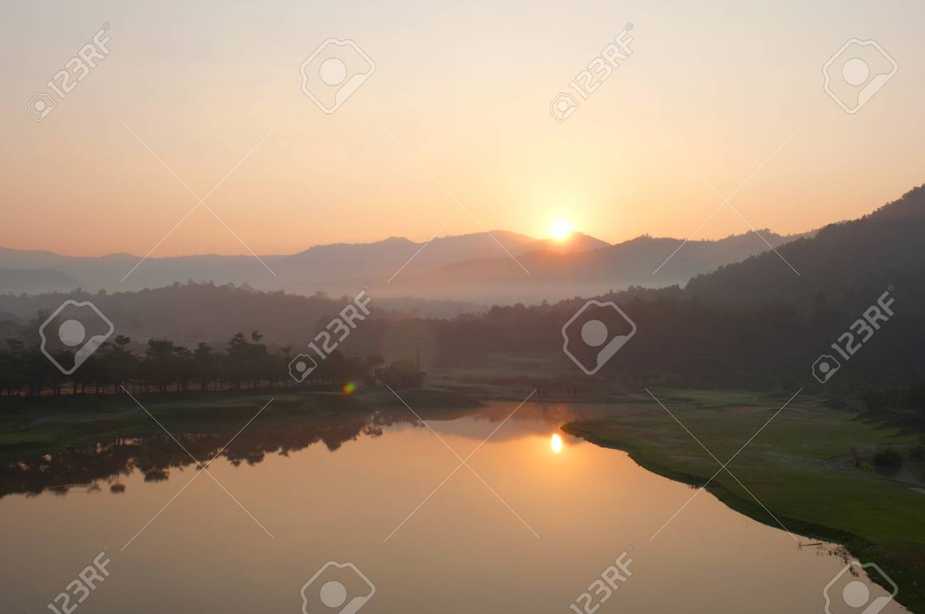 Sunrise Golf Course in northern Thailand. Stock Photo - 12390949