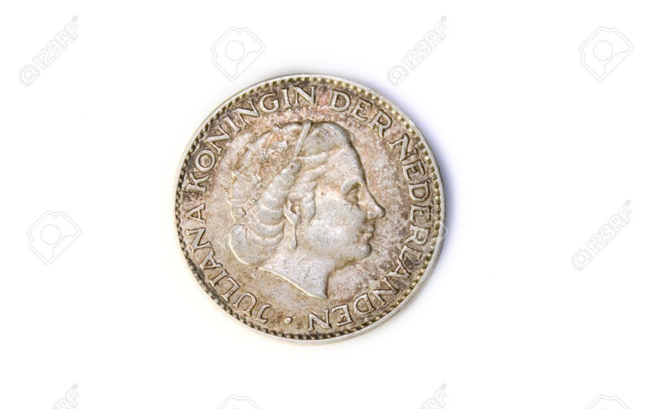 A 1956 Niederlande Juliana Silber Gulden Münze Vorderseite