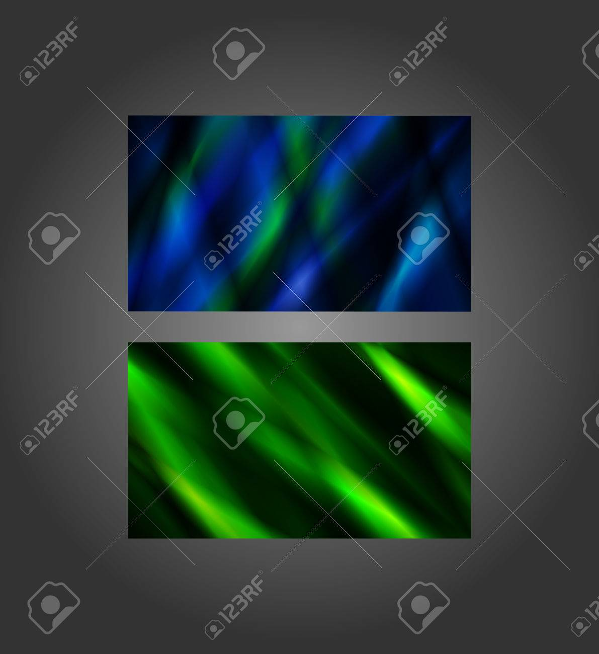 Blue And Green Abstract Banners, 2x3.5 Inches, Business Card ...