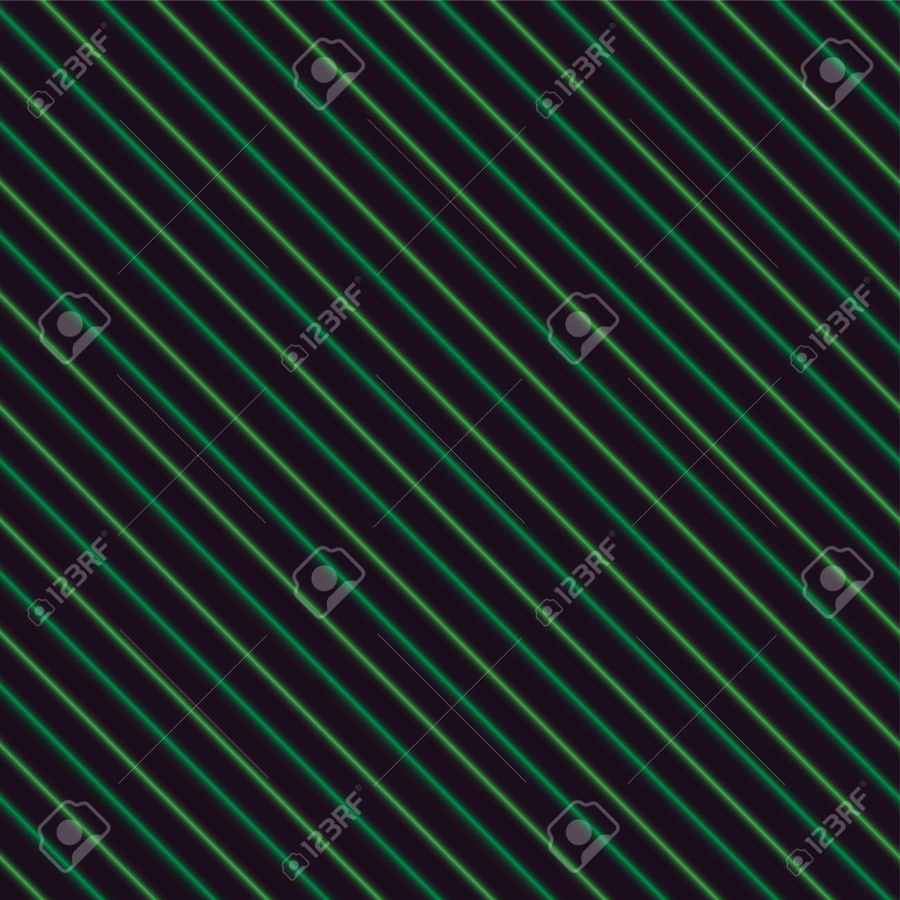 Vettoriale Strisce Al Neon Verde Su Sfondo Nero Senza Soluzione