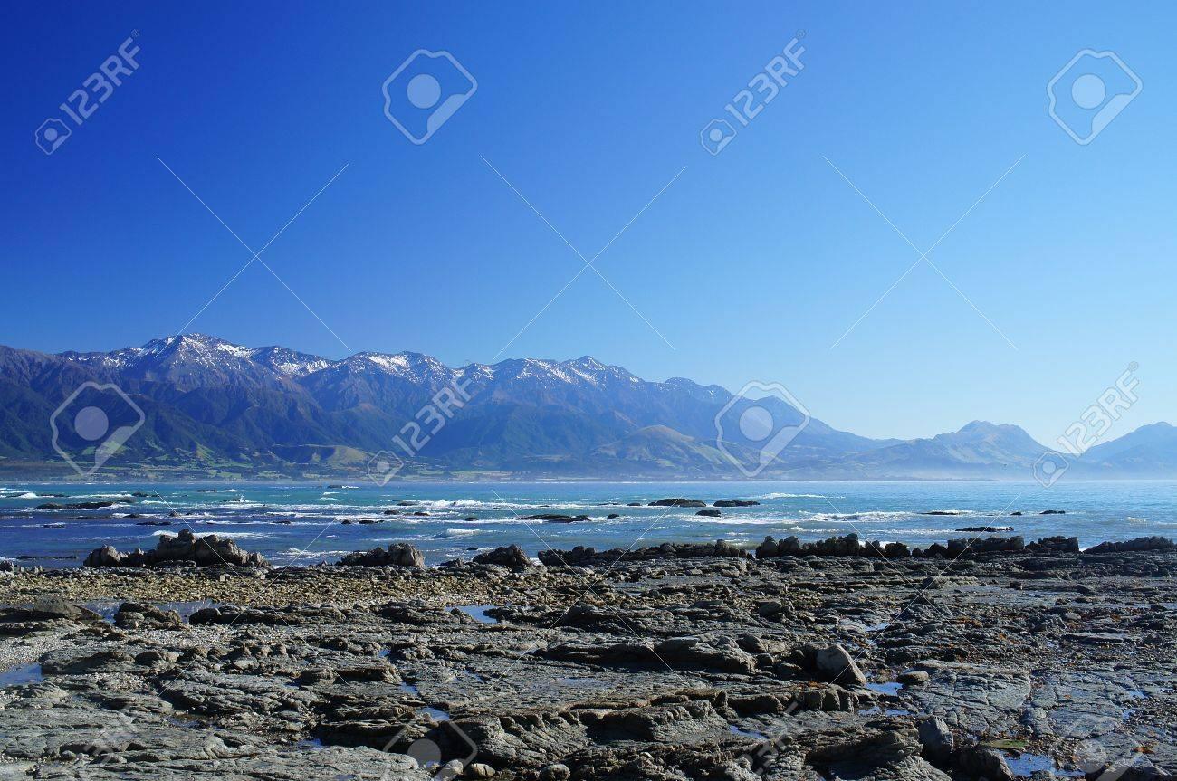 Nice Coast at Kaikoura, South Island of New Zealand Stock Photo - 13164260