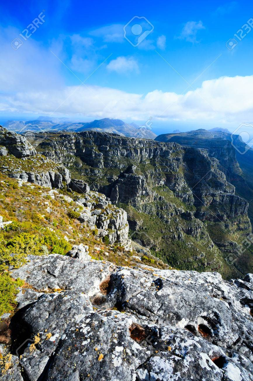 Rock And Landscape On Top Of Table Mountain Cape Town South - Table top mountain south africa