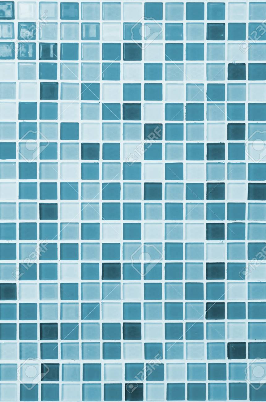 Colored Mosaic Background Tiles For Bathroom Stock Photo, Picture ...
