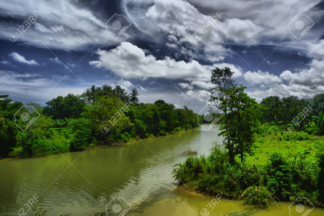 Beutiful beutiful river in makassar indonesia stock photo, picture and