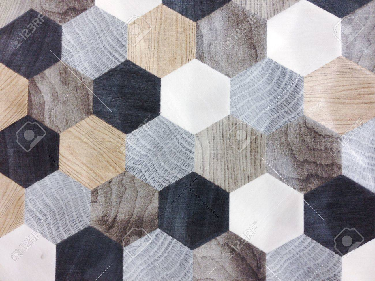 Ceramic tiles texture and background hexagonal patterns stock