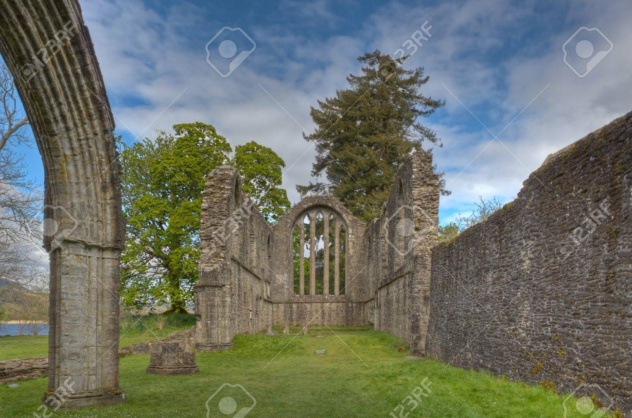The Ruins Of The 13th Century Inchmahome Priory Near Aberfoyle