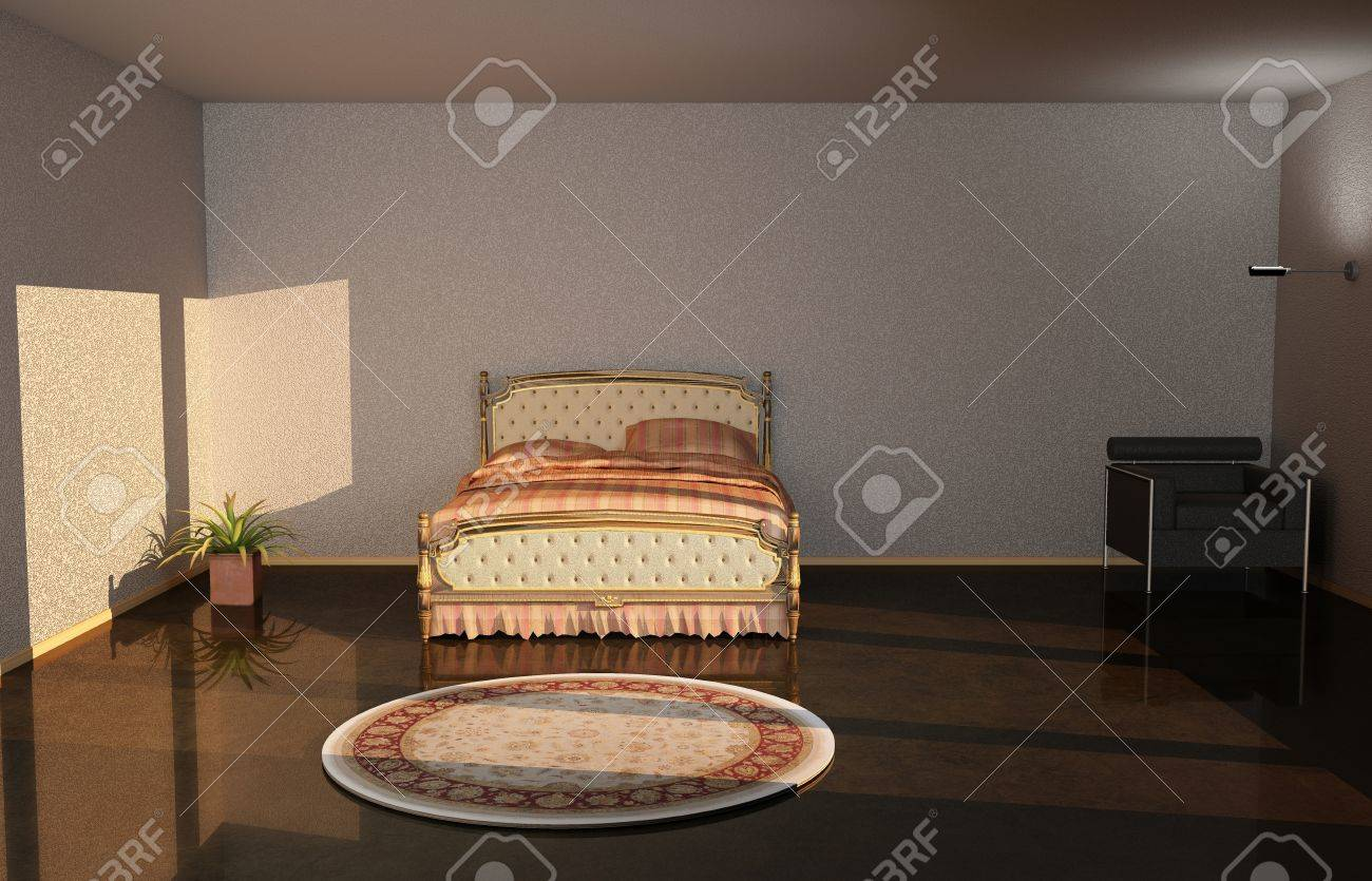 3d illustration from chair and Bedroom Stock Photo - 20230598