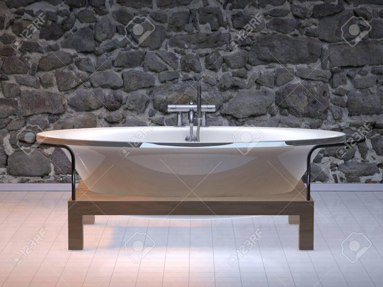 rendering illustration modern bathroom design Stock Photo - 20238463