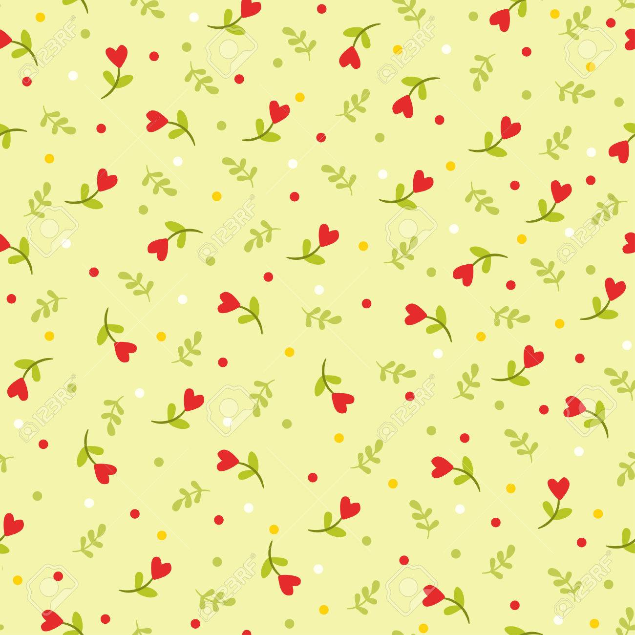 Vector illustration of flowers and leaves. - 46448722
