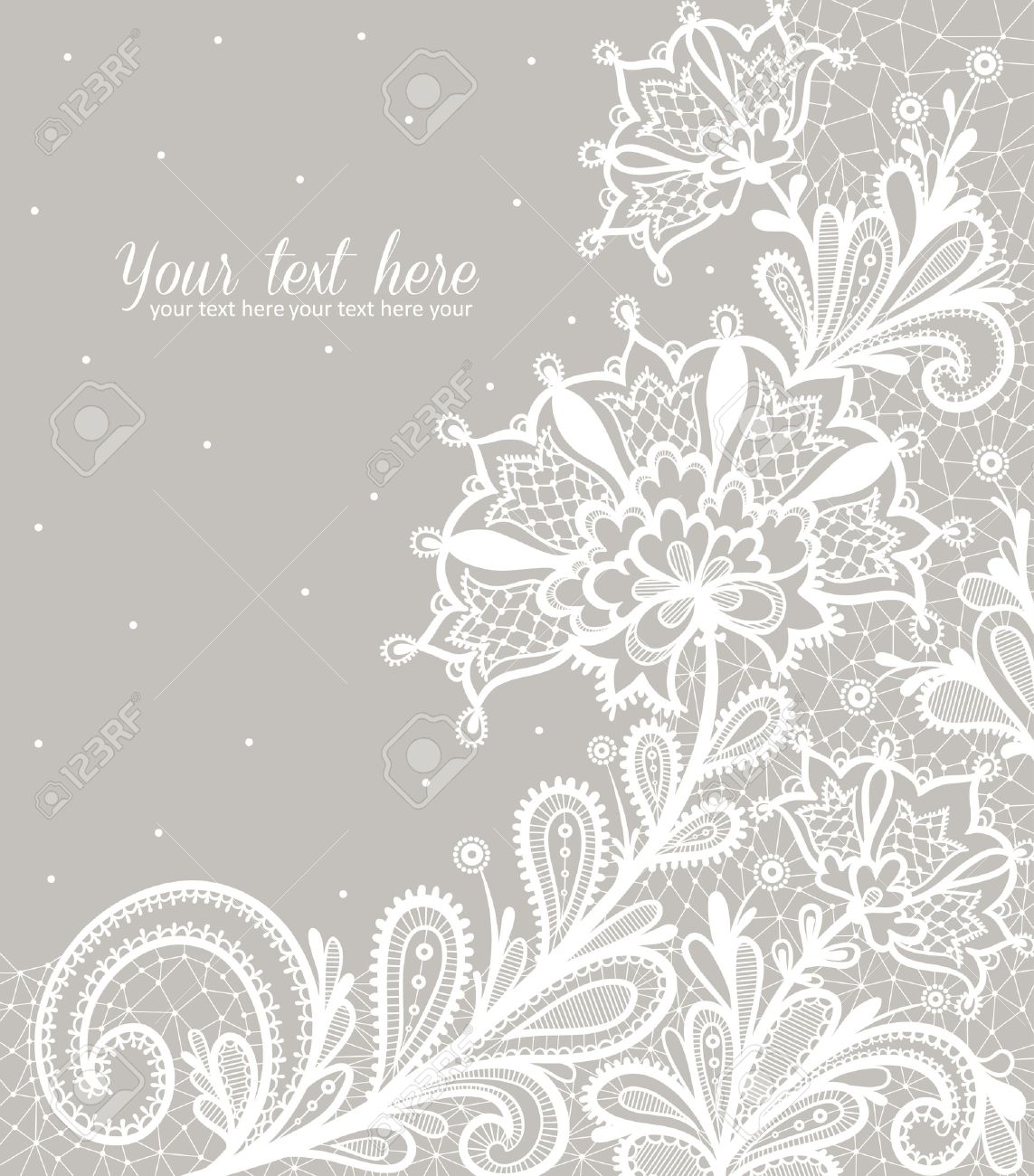 Black lace on a white background vector design. - 46449104