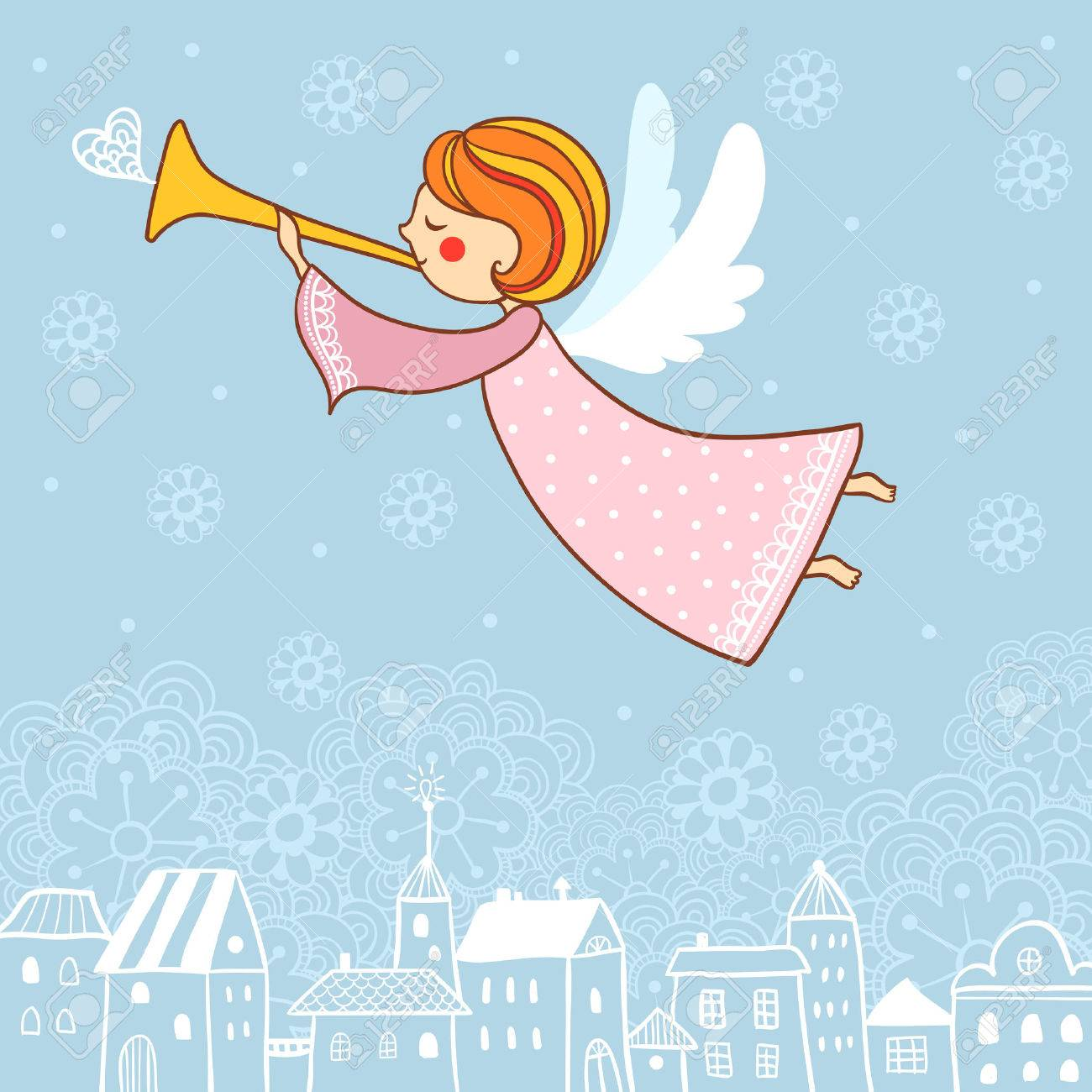 Christmas vector illustration on the theme of the new year. - 47226892