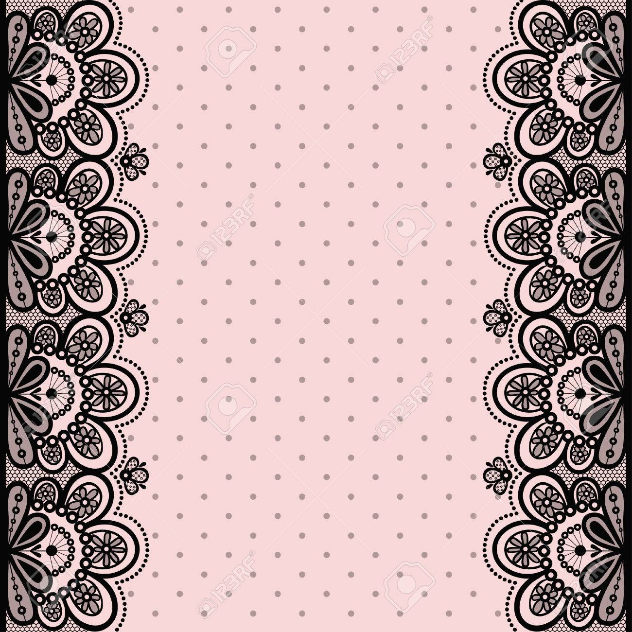 Seamless vector illustration with lace on a pink background. Stock Vector -  48493271 b89d510bf