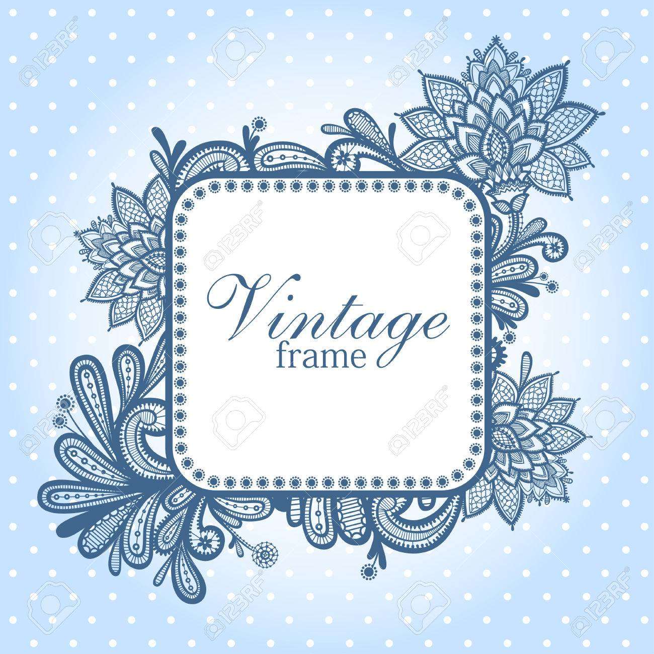 Wedding Design With Lace In Retro Style. Royalty Free Cliparts ... 6dc7c8de2