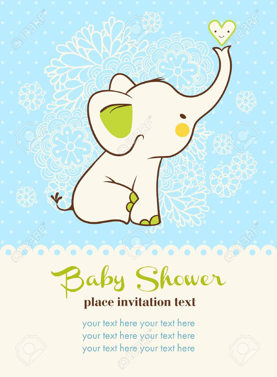 Children illustration with elephant and place for your text. Stock Vector - 48833569