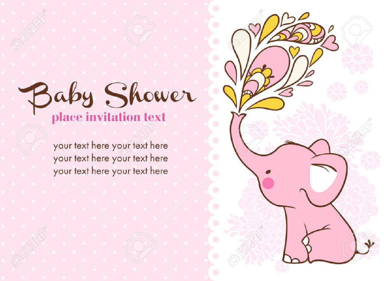 Children illustration with elephant and place for your text. Stock Vector - 48833577