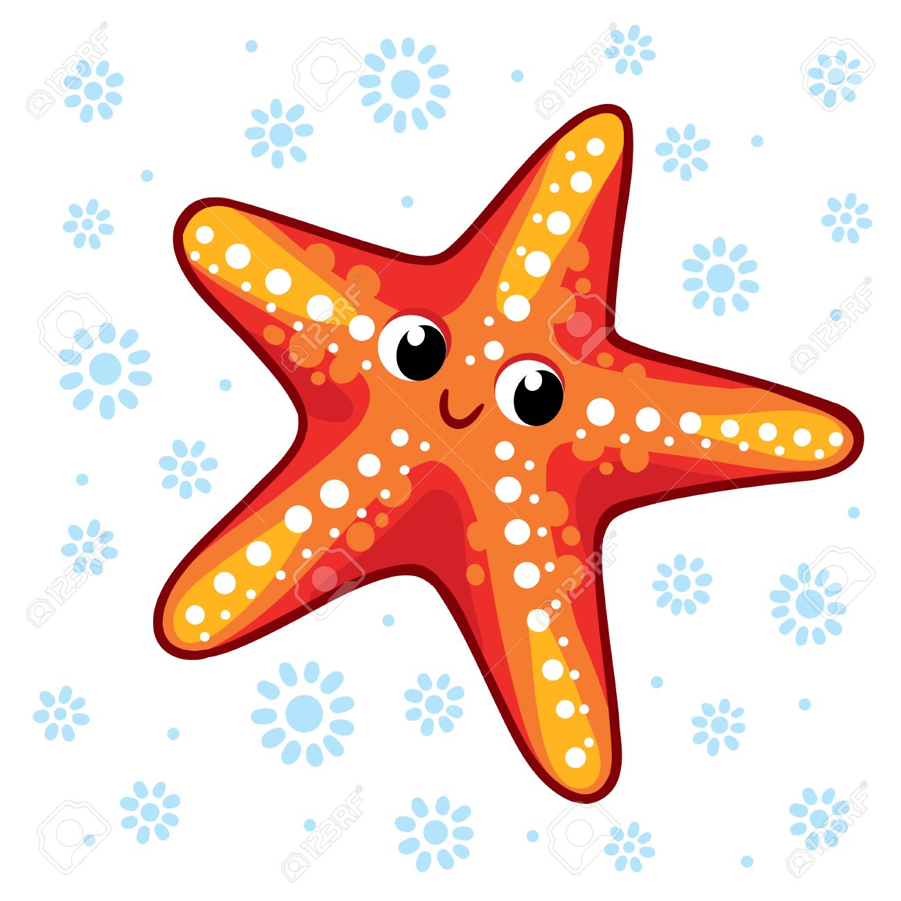 starfish cartoon starfish vector illustration sea animal starfish rh 123rf com starfish vector image starfish vector image