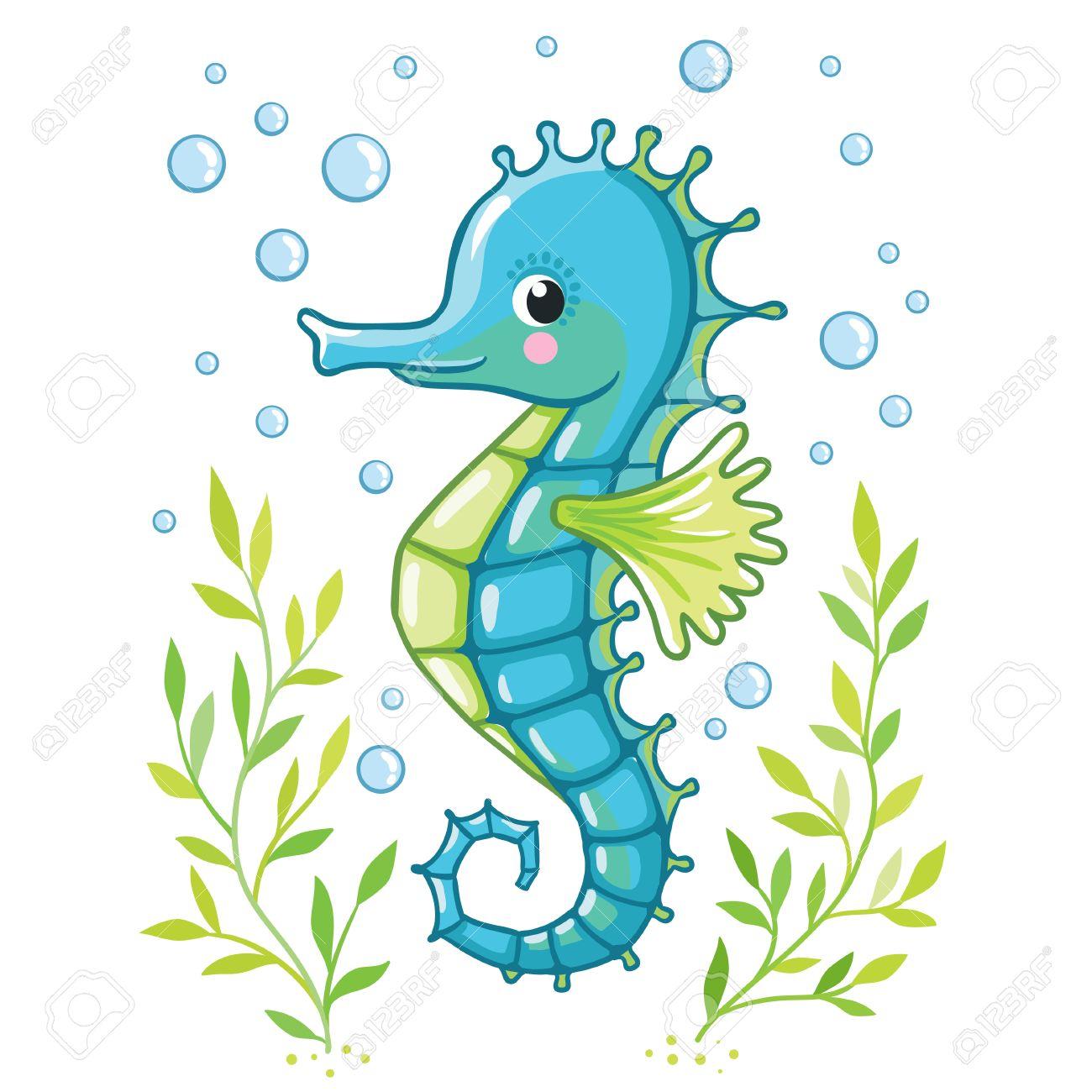 Cartoon seahorse drawing - dinocro.info